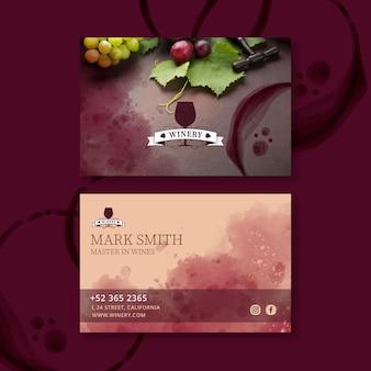 Wein visitenkartenvorlage