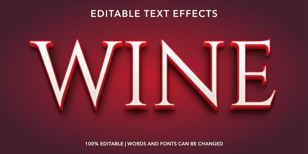Weinbearbeitbarer texteffekt