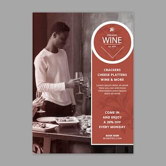 Weinfliegervorlage mit foto