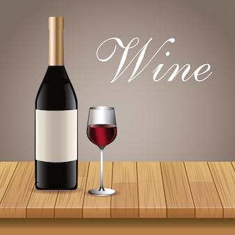 Weinglas glas tasse tisch aus holz