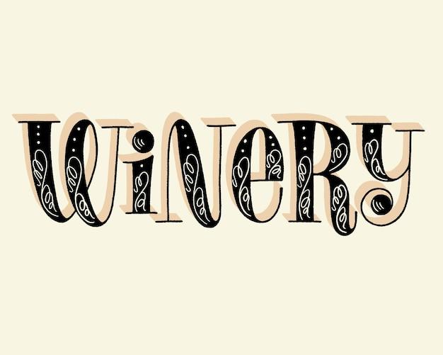 Weingut-handbeschriftungstext für restaurant-weingut-weinberg-festival