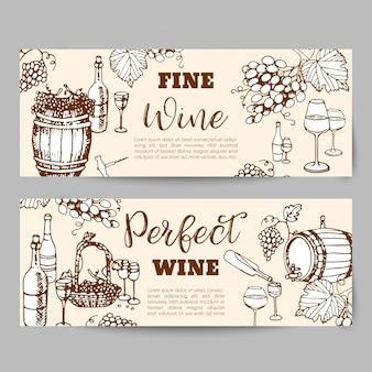Weinherstellung produkte. banner für weinladen