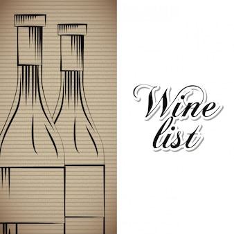 Weinkarte getränkekarte