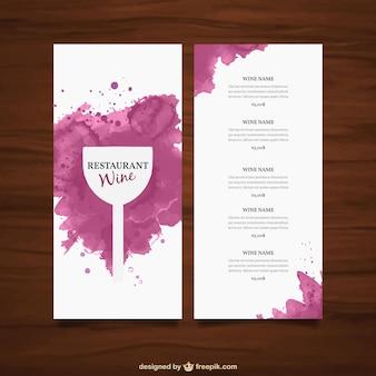 Weinkarte vorlage