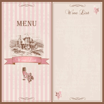 Weinkarte.