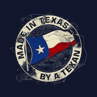 Weinlese-art ein texas-thema