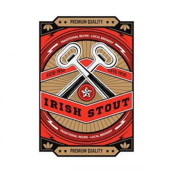 Weinlese-bier-emblem
