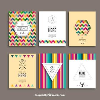 Weinlese-broschüren