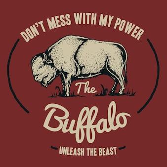 Weinlese-büffel-abzeichen