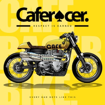Weinlese-café-rennläufer-plakat