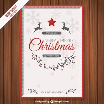 Weinlese-cmyk weihnachtskartenschablone