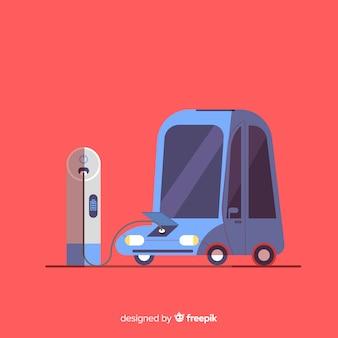 Weinlese-elektroauto