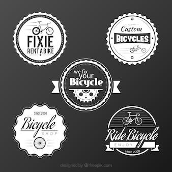 Weinlese-fahrrad abzeichen