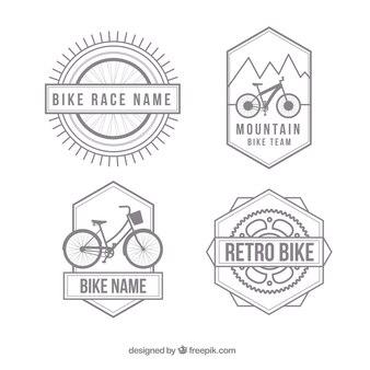 Weinlese-fahrrad-abzeichen