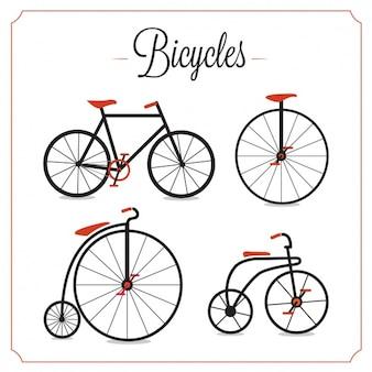 Weinlese-fahrräder sammlung