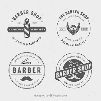 Weinlese-friseur logos