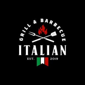 Weinlese-gril-barbeque-logoentwurf