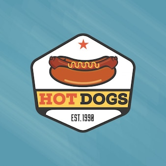 Weinlese-hot-dog-logo-vorlage