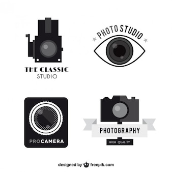 Weinlese-kamera-logos pack