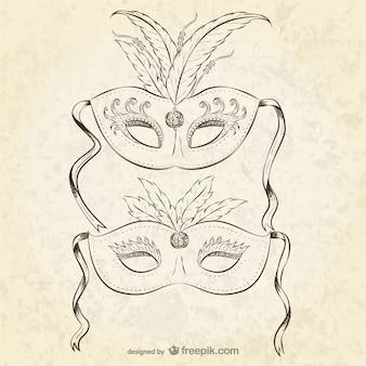Weinlese-karnevals-masken