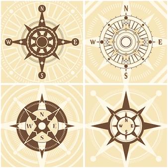 Weinlese-kompass-set