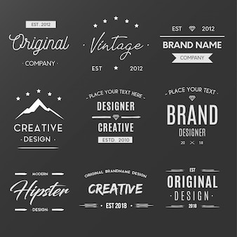 Weinlese-kreative logo-sammlung