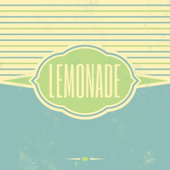 Weinlese-limonade-zeichen