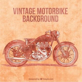Weinlese-motorrad auf einem grunge-hintergrund