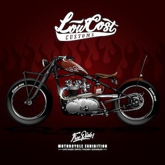 Weinlese-motorrad-plakat