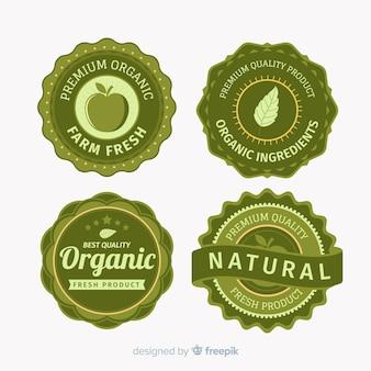Weinlese-organischer frucht-kennsatz