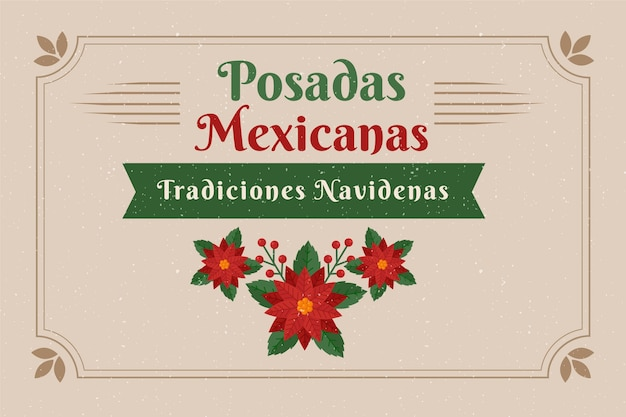 Weinlese posadas mexicanas hintergrund