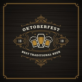 Weinlese-quadratplakat der oktoberfest-bierfestfeier