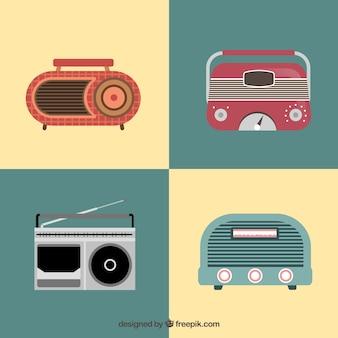 Weinlese-radios pack