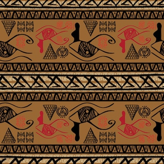 Weinlese retro- abgestreiftes ägypten-muster