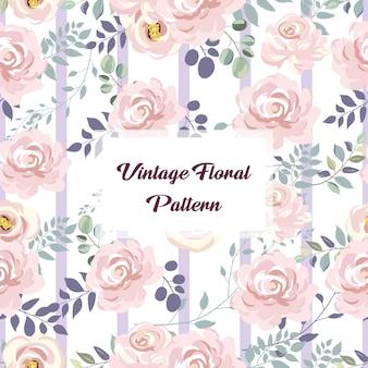 Weinlese-rosa-nahtloses mit blumenmuster für dekoration