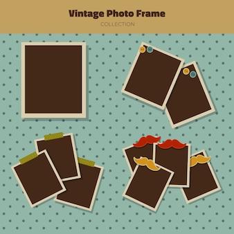 Weinlese-sammlung von bilderrahmen