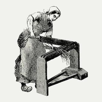 Weinlese-scutcher-maschinenillustration
