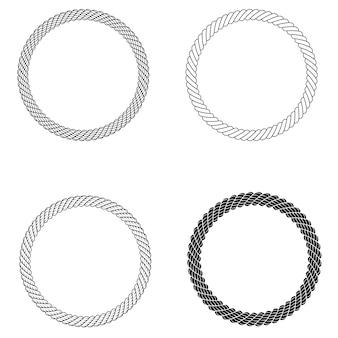 Weinlese-seil-grenzrahmen im vektor