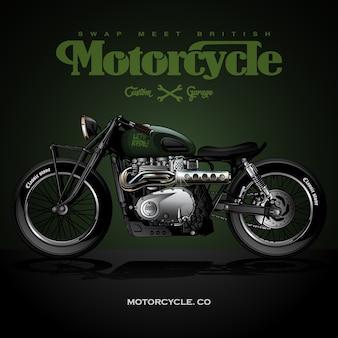 Weinlese-straßen-verfolger-motorrad-plakat