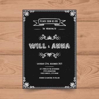 Weinlese-tafel-hochzeits-einladungs-karten-schablone