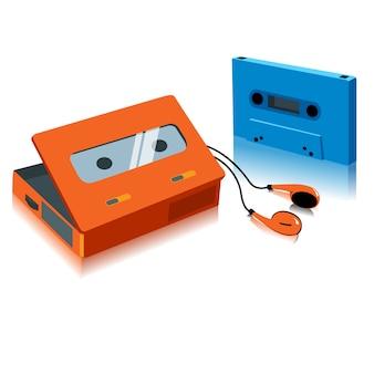 Weinlese-tragbarer kasettenspieler
