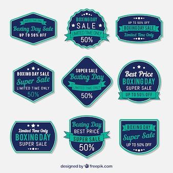 Weinlese-verpacken-tagesverkaufsausweis im blau