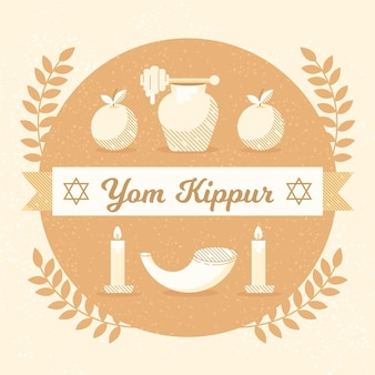 Weinlese yom kippur illustration