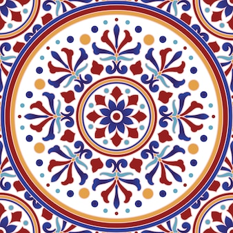 Weinlesefliesenmuster mit bunter türkischer art des patchworks