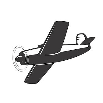 Weinleseflugzeugillustration auf weißem hintergrund. elemente für logo, etikett, emblem, zeichen. illustration