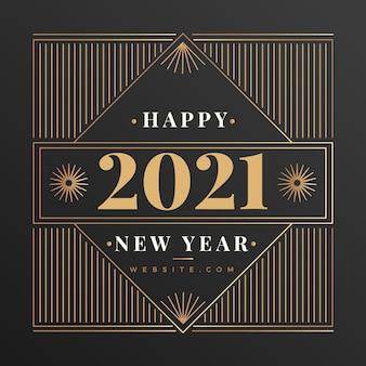 Weinlesehintergrund des neuen jahres 2021