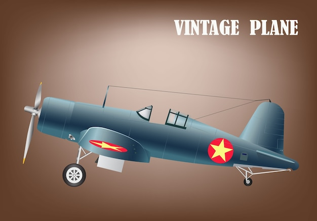 Weinlesekriegsflugzeug-vektorillustration env 10
