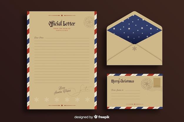 Weinleseschablonen-weihnachtsbriefpapier