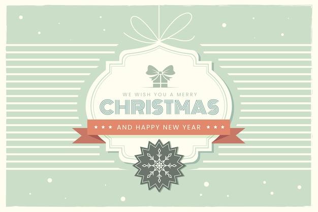 Weinlesestil frohe weihnachten hintergrund