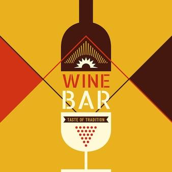 Weinlokehintergrund